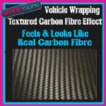 2M X 1525mm VEHICLE CAR VAN WRAP FEELS & LOOKS LIKE REAL CARBON FIBRE